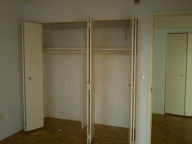 Day 1: Bedroom closet