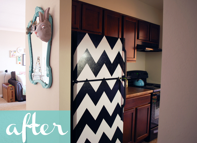 chevron-fridge-diy-after