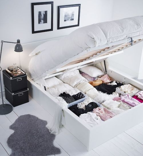 storage under bed