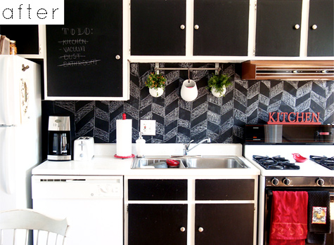 paint backsplash. awesome learn how to stencil a faux tile kitchen