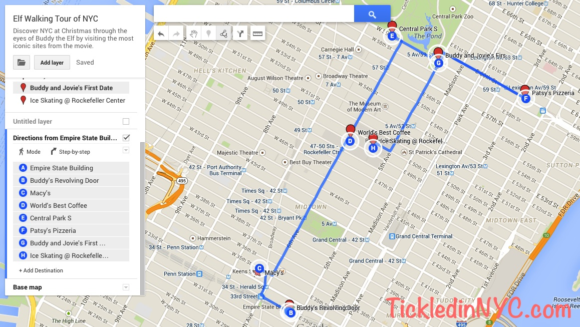 Elf: The Unofficial NYC Walking Tour | Tickled in NYC