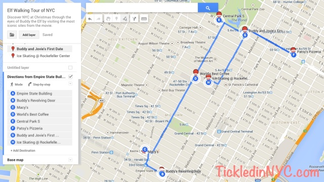 Elf Tour NYC Map