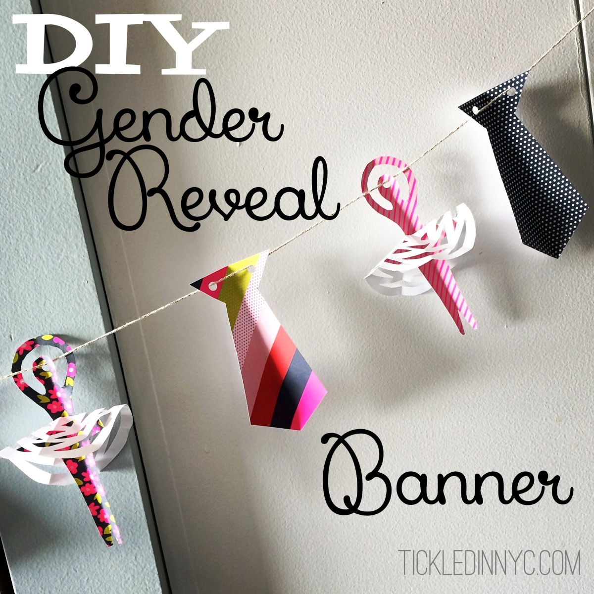 Ties or Tutus: My DIY Gender Reveal