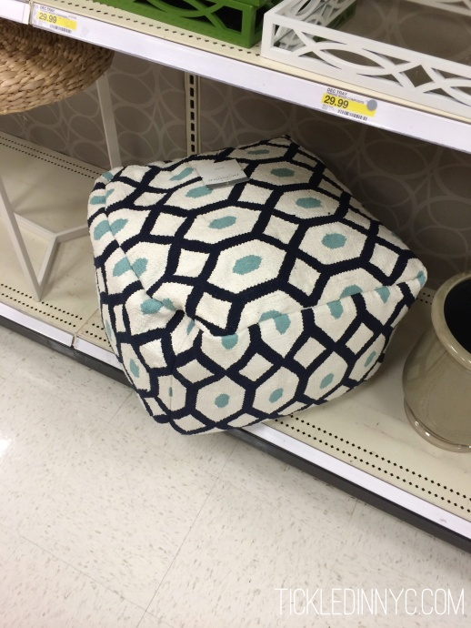 Diy How To Sew A Pouf Cover Tickled In Nyc