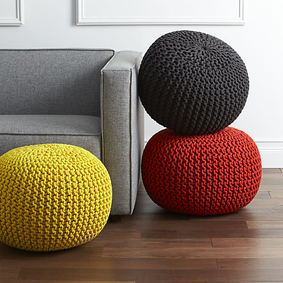DIY How To Sew A Pouf Cover Tickled In NYC Mesmerizing Yellow Knit Pouf