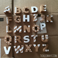 DIY: Cork Alphabet Magnets