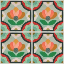 patternedinourblossomfloraldesign-thisdecorativevinylfloordecalstickerisaneasytemporarysolutionforfloorsmirthstudioperfectfordorms