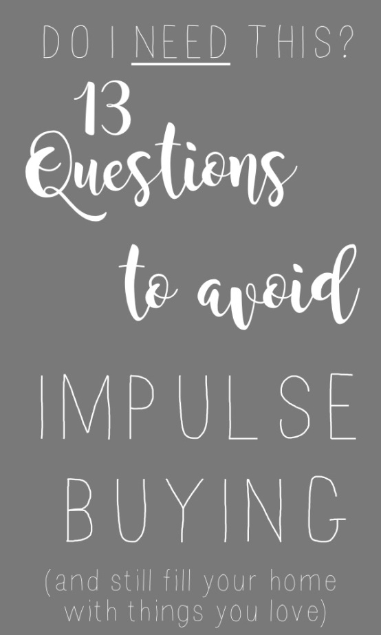 Impulse Buyers Checklist