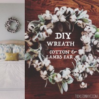 DIY: Cotton & Lamb's Ear Wreath